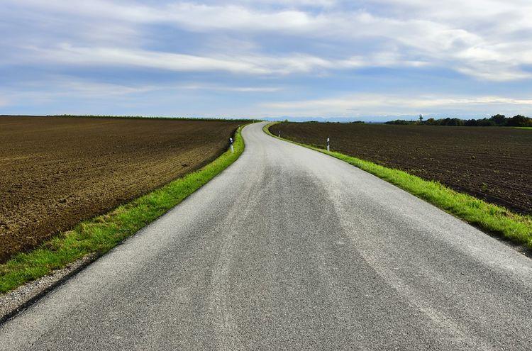 Strasse Feldweg Land
