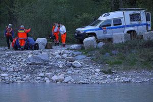 Verletzter Flussbett