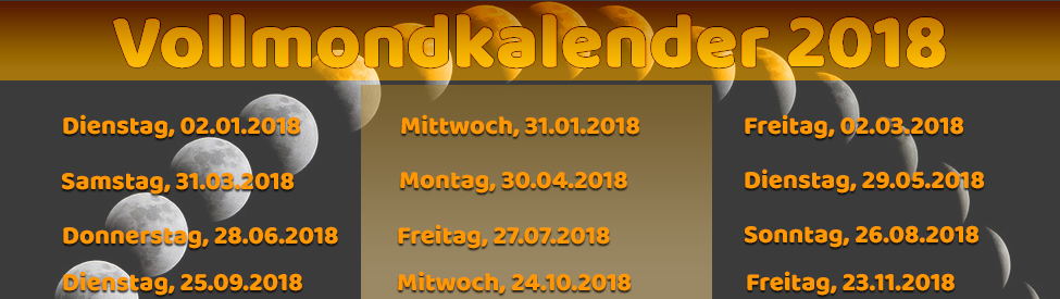 Vollmondkalender 2018