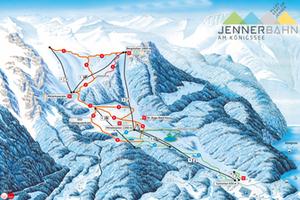 Panoramakarte Jennerbahn Skigebiet