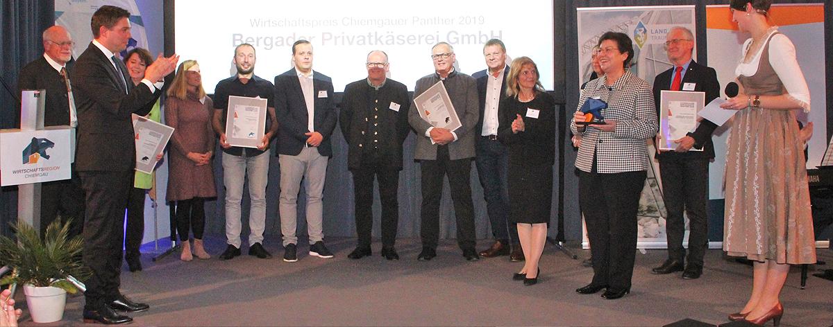 Wirtschaftspreis Chiemgauer Panther 2019 Kloster Seeon
