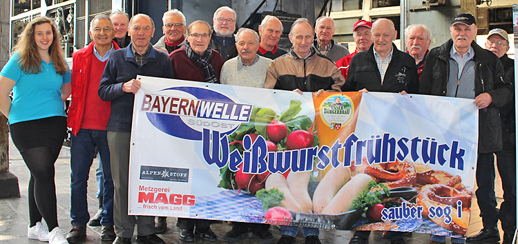 Bayernwelle Weißwurstfrühstück 02 Maerz 2018 in Freilassing