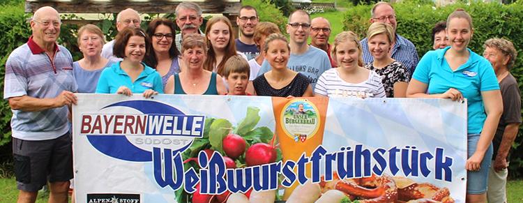 Bayernwelle Weißwurstfrühstück 04 August 2017 in Mietenkamm bei Elisabeth Siegert