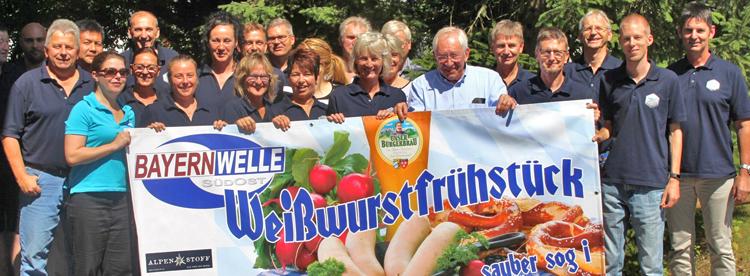 Bayernwelle Weißwurstfrühstück 07 Juli 2017 bei der Firma Knott in Eggstätt