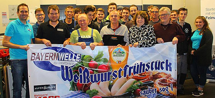 Bayernwelle Weißwurstfrühstück 08 Dezember 2017 in Grabenstätt