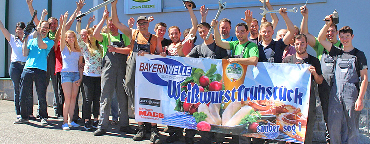 Bayernwelle Weißwurstfrühstück 09 Juni 2017 bei Firma Landtechnik Steinmassl in Petting