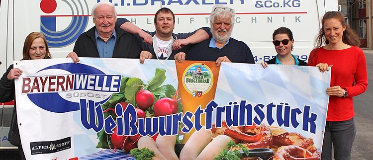 Bayernwelle Weißwurstfrühstück 09 Maerz 2018 in Seeon