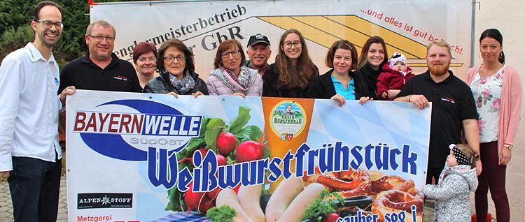 Bayernwelle Weißwurstfrühstück 10. November 2017 in Bergen