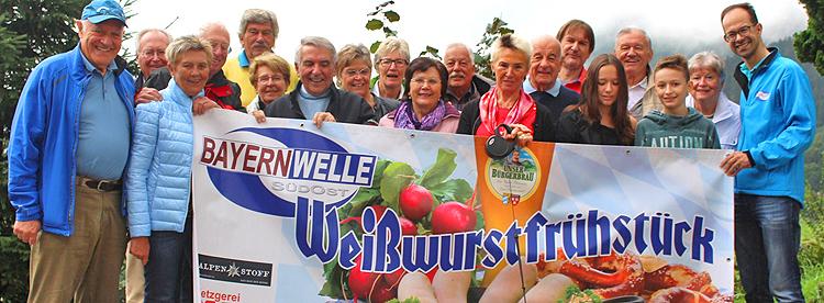 Bayernwelle Weißwurstfrühstück 11 August 2017 in Bad Reichenhall