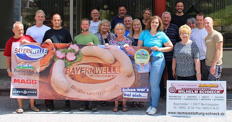 Bayernwelle Weißwurstfrühstück 13 Juli 2018 in Berchtesgaden