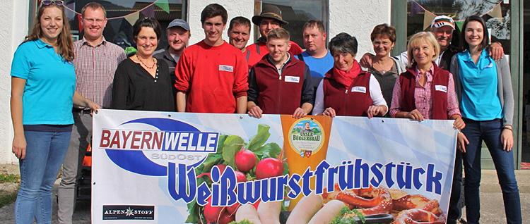 Bayernwelle Weißwurstfrühstück 13. Oktober 2017 in Teisendorf