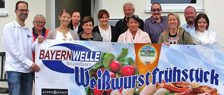 Bayernwelle Weißwurstfrühstück 15 Dezember 2017 in Erlstätt
