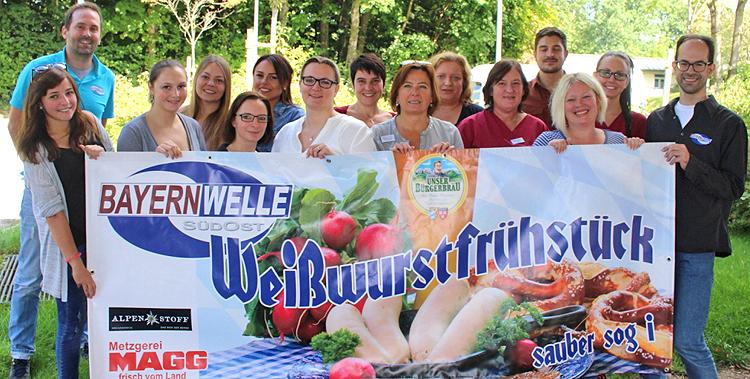 Bayernwelle Weißwurstfrühstück 15 September 2017 im Krankenhaus Trostberg