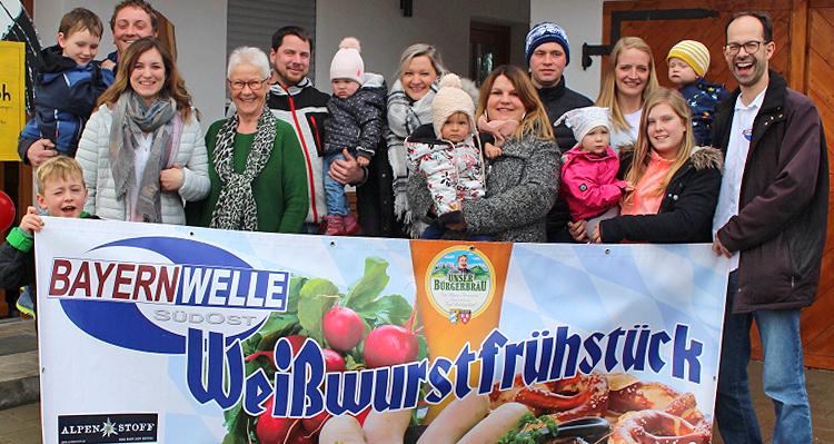 Bayernwelle Weißwurstfrühstück 16 Februar 2018 in Waging