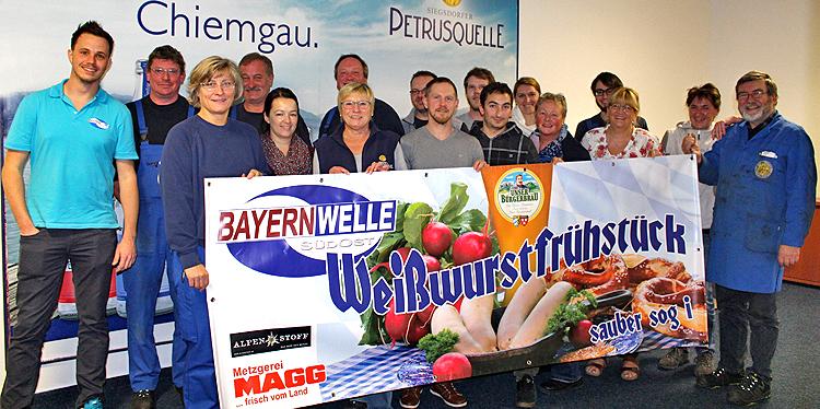 Bayernwelle Weißwurstfrühstück 17 November 2017 in Siegsdorf