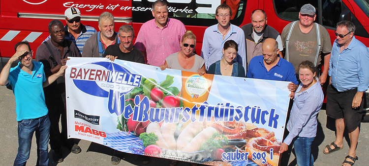 Bayernwelle Weißwurstfrühstück 18 August 2017 in Traunreut