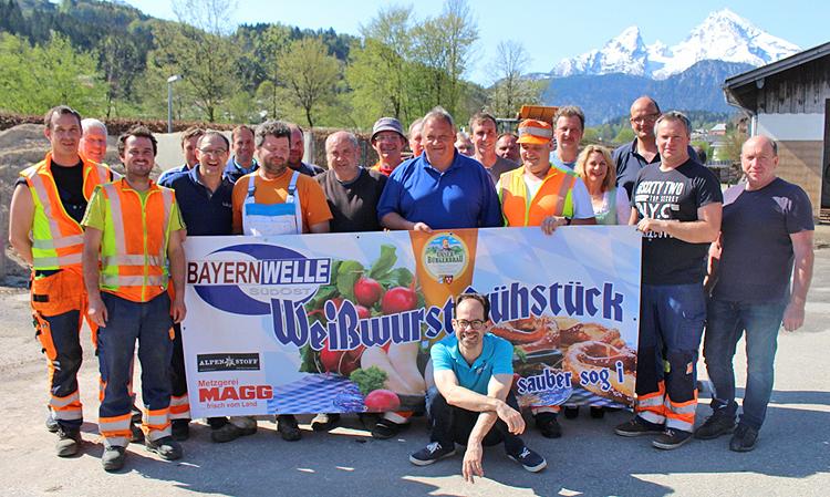 Bayernwelle Weißwurstfrühstück 20 April 2018 Bauhof Berchtesgaden