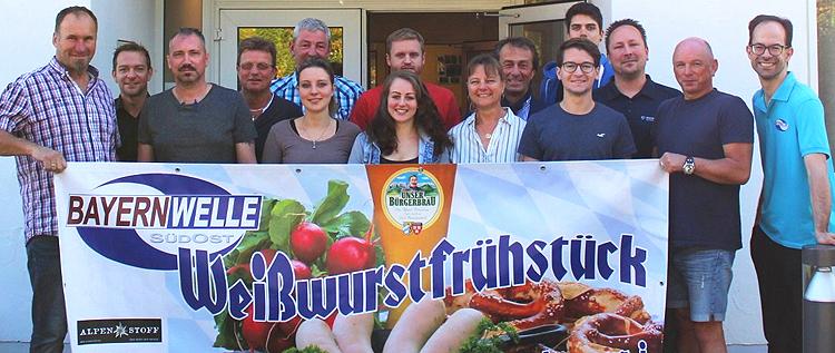 Bayernwelle Weißwurstfrühstück 20. Oktober 2017 in Traunstein
