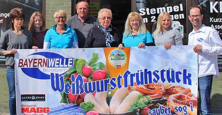 Bayernwelle Weißwurstfrühstück 21 April 2017 bei Firma Mallmann in Traunstein
