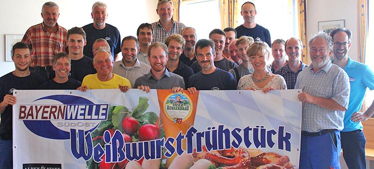 Bayernwelle Weißwurstfrühstück 21 Juli 2017 bei den Stadtwerken Traunstein