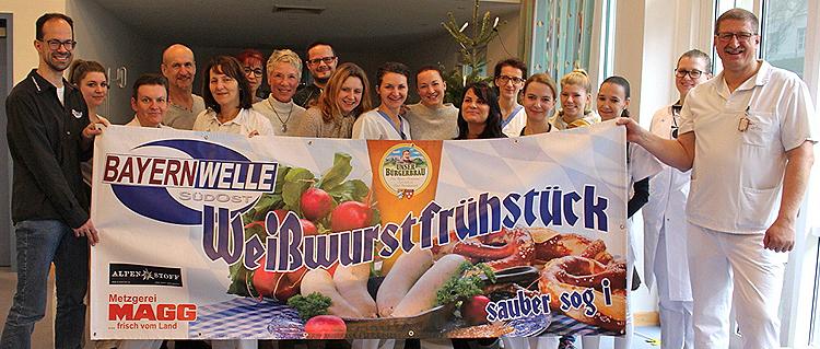 Bayernwelle Weißwurstfrühstück 22 Dezember 2017 in Reichenhall