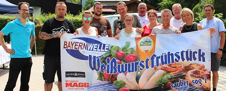 Bayernwelle Weißwurstfrühstück 23 Juni 2017 bei Hausmeisterservice Kube in Bayerisch Gmain