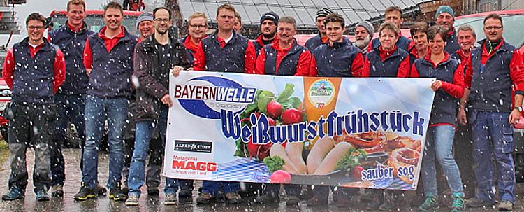 Bayernwelle Weißwurstfrühstück 23 März 2018 in Schönau am Königssee