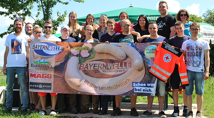 Bayernwelle Weißwurstfrühstück 25 Mai 2018 BRK Freilassing