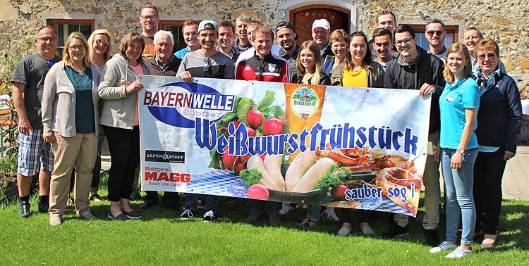 Bayernwelle Weißwurstfrühstück 27 April 2018 in Allerberg