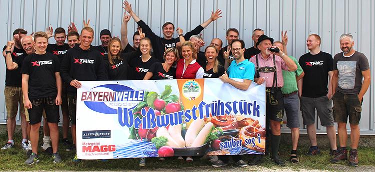 Bayernwelle Weißwurstfrühstück 28 Juli 2017 in Petting bei Gröbner Fertigungs GmbH