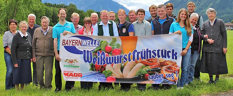 Bayernwelle Weißwurstfrühstück bei Max Baumgartner in Anger